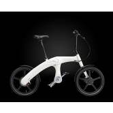Mando Footloose Folding Chainless Electric Bike (Black/White)