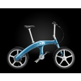 Mando Footloose Folding Chainless Electric Bike (Light Blue)