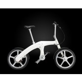 Mando Footloose Folding Chainless Electric Bike (White)